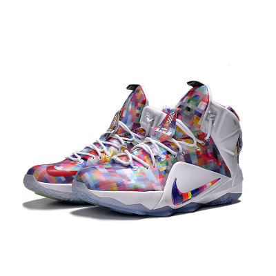 nike耐克男鞋lebron 12詹姆斯lbj12多棱镜 彩虹篮球鞋图片