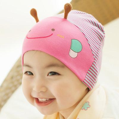 男女宝宝帽子春秋冬儿童帽子韩版婴儿帽子婴幼儿帽三角巾围巾套装