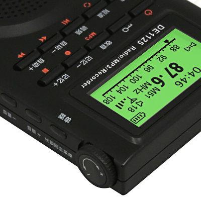 德劲(degen)de1125调频立体声/中波/短波数字调谐全波段收音机