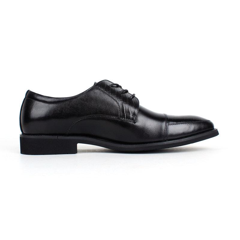 意尔康低帮系带鞋真皮男士商务正装鞋百搭皮鞋英伦男单鞋97278(黑色 40)第5张商品大图