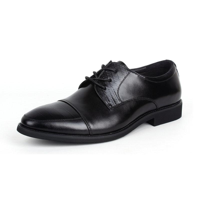 意尔康低帮系带鞋真皮男士商务正装鞋百搭皮鞋英伦男单鞋97278(黑色 40)第2张商品大图