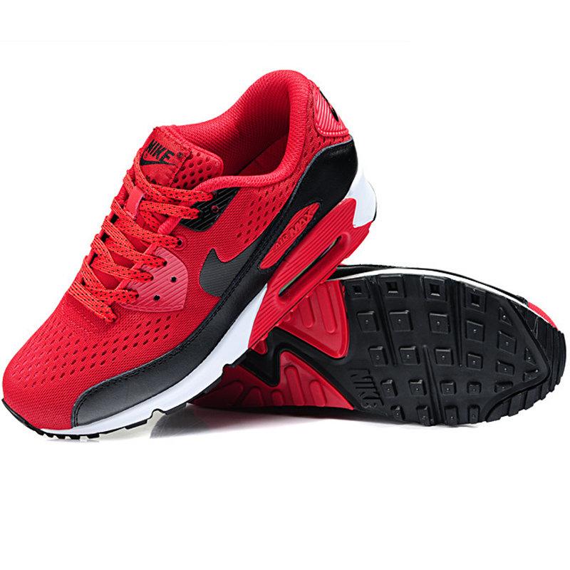 Nike耐克2014新款 AIR MAX90男女气垫鞋跑步鞋运动鞋休闲鞋 8005(红黑 39)第3张商品大图