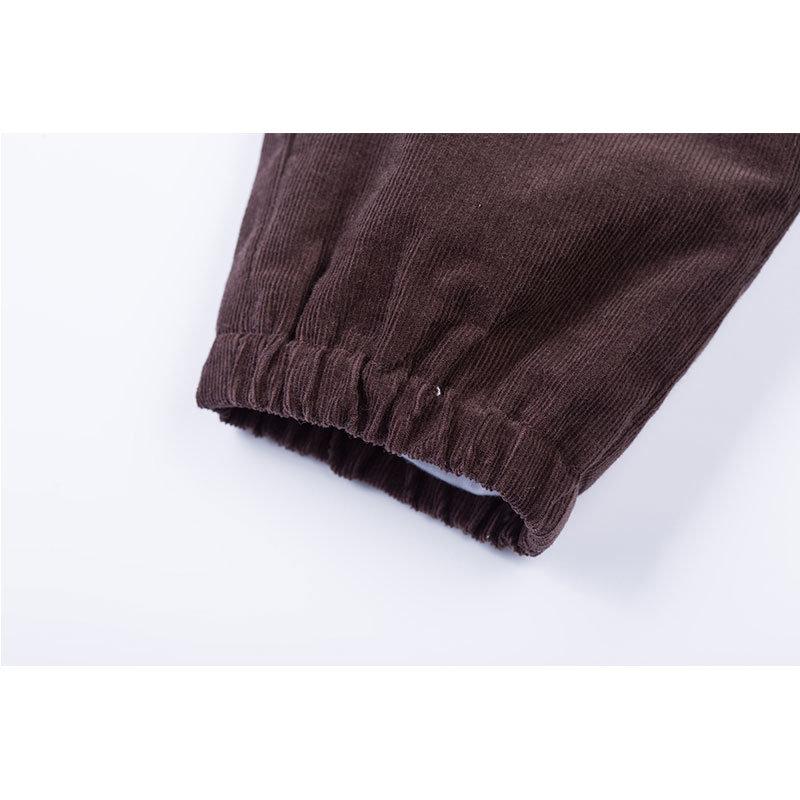 贝贝怡 2014新品婴儿服饰 灯芯绒长裤男女宝宝长裤143K026(深褐 90cm)第3张商品大图