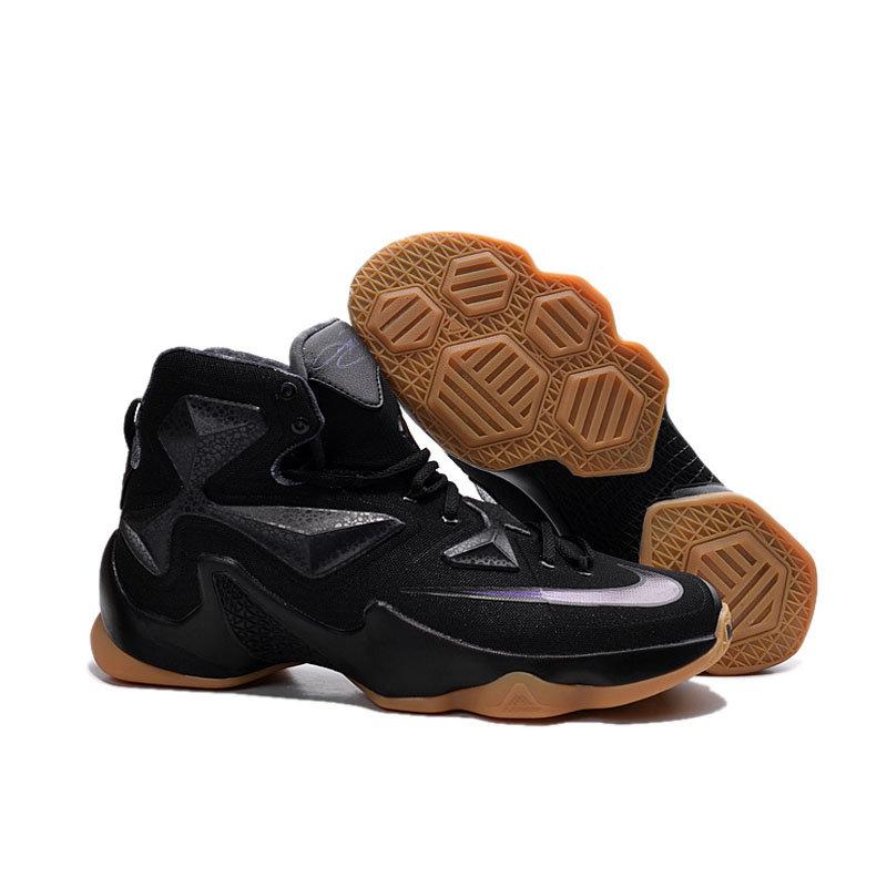 专柜耐克NIKE 詹姆斯13代全明星战靴 精英高帮气垫圣诞版战靴篮球鞋(黑骑士 41)第3张商品大图