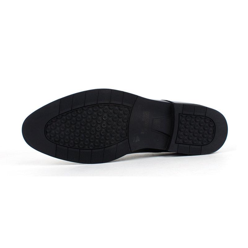 意尔康低帮系带鞋真皮男士商务正装鞋百搭皮鞋英伦男单鞋97278(黑色 40)第3张商品大图